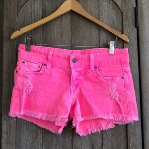 LF Car-Mar cut off hot pink shorts